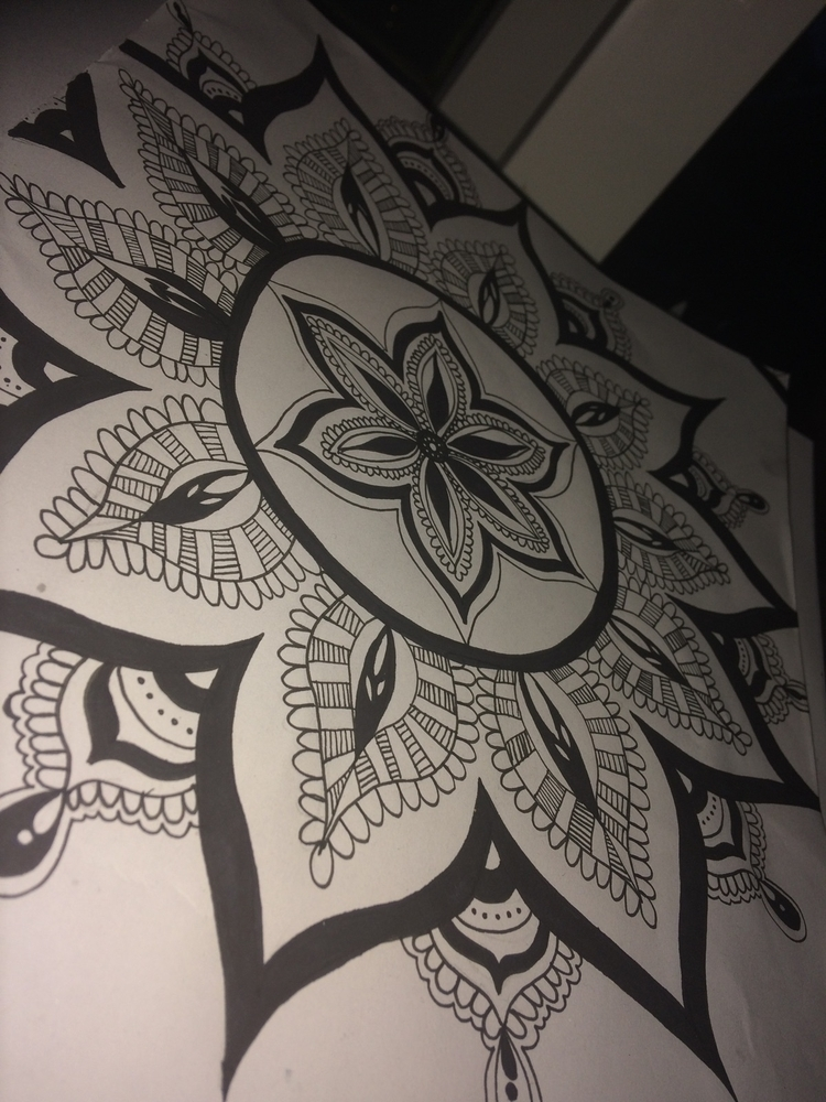 Experimenting mandalas - pen-to-paper | ello