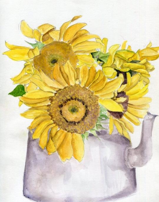 Sun Tea Watercolor Bristol Boar - havekat   ello
