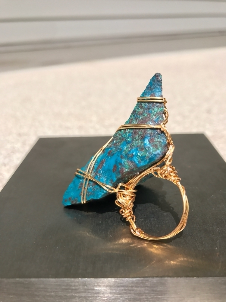 ring created - wirewrapped, gold - 0715jewelry | ello