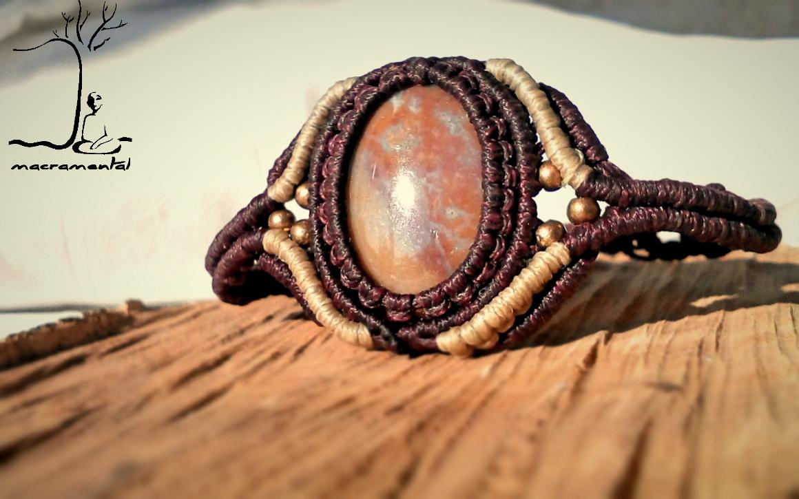 Simple stylish, *Agate gemstone - macramental | ello