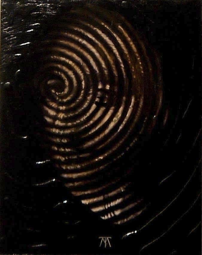 Spirale Acrylique sur bois / Ac - tuffelli | ello