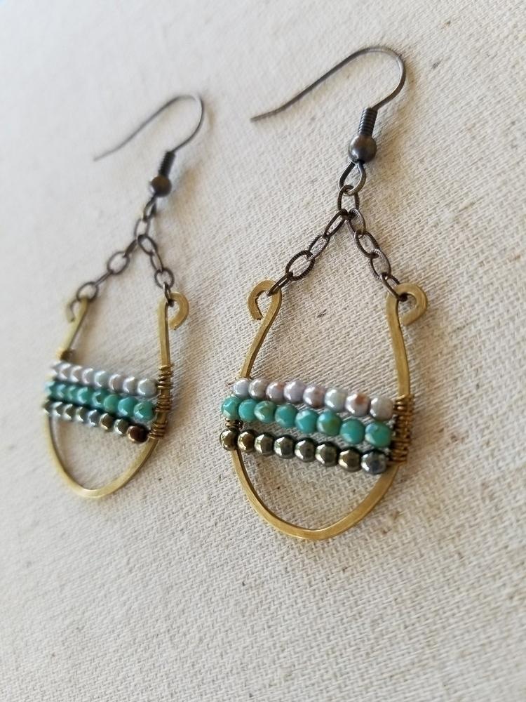 Gorgeous Hammered Brass Earring - strandedkiwi | ello