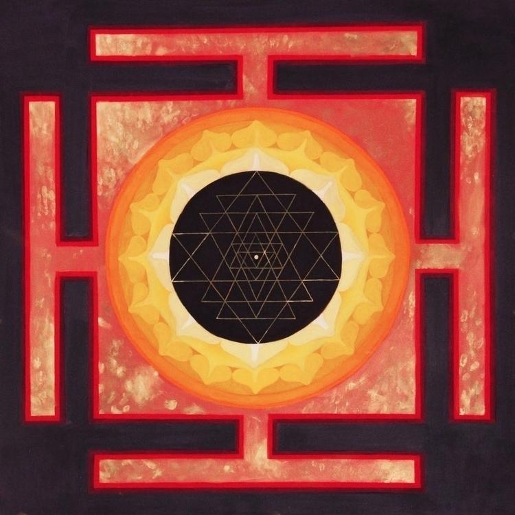Sri Yantra - cosmic order art g - emilyweeks | ello