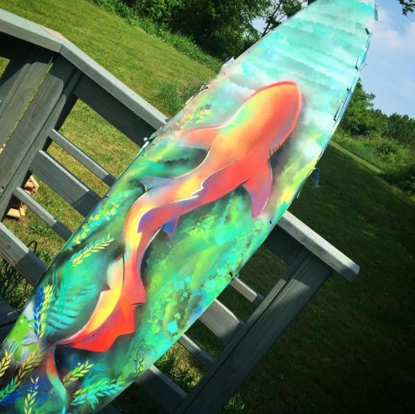 shark, surf, art, surfboard, artoftheday - schuylark   ello