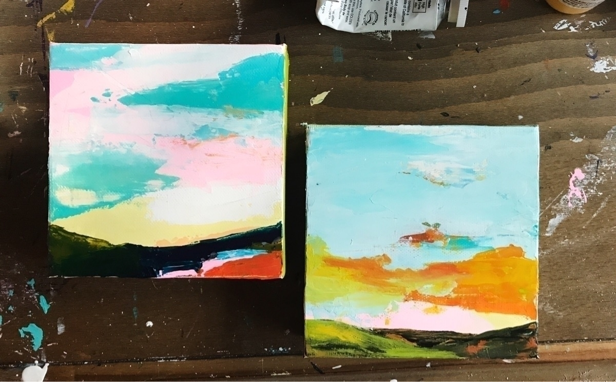 4x4 paintings titled Delighted  - angietherose | ello