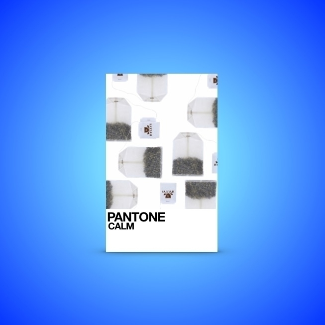 calm tea bag - pantone, teabag, blue - jakesmelker | ello