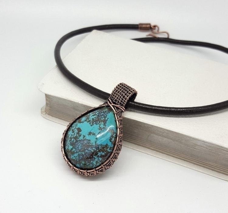 azurite hand woven copper wire  - jakdawgems | ello
