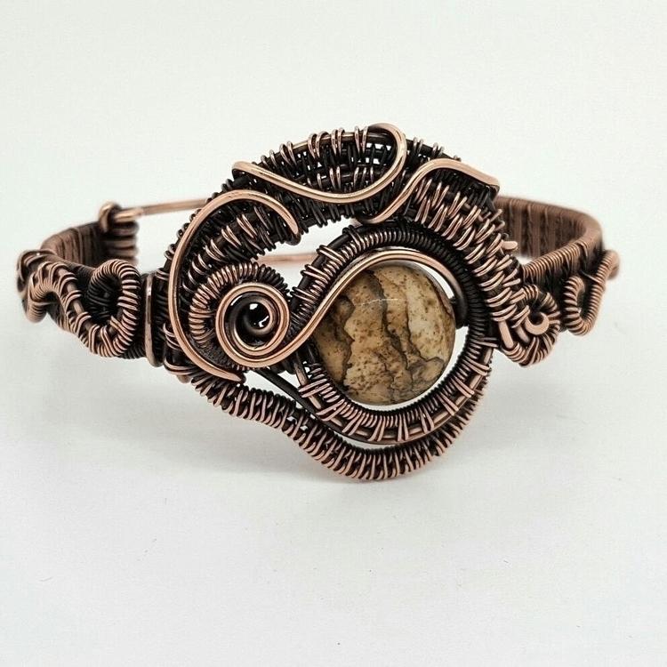 hand woven copper bracelet pict - jakdawgems | ello