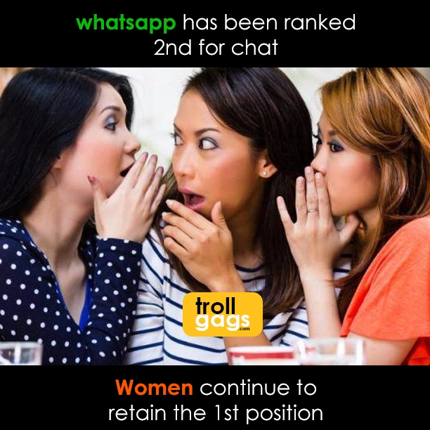 Whatsapp ranked 2nd chat - Wome - trollgags | ello