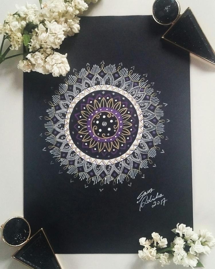 mandala - art, drawing, rysunek - szlugi_i_sztalugi | ello