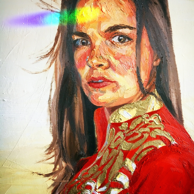 hitting painted - prism, painting, - mrosestudio | ello
