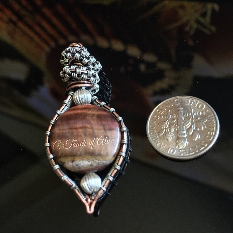 Red Tiger Eye Pendant $45 +sh - redtigereye - a_touch_of_alice | ello