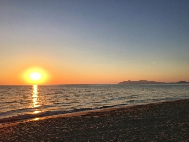 Sunset, Giannella, Beach - rowiro   ello