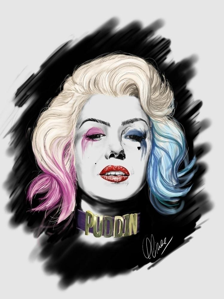 Mashup Harley Quinn Marilyn Mon - oliveraart | ello