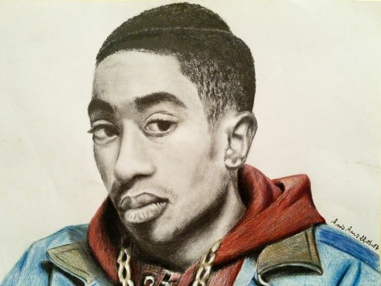 artwork tupac shakur. finally - anis_amr_art | ello