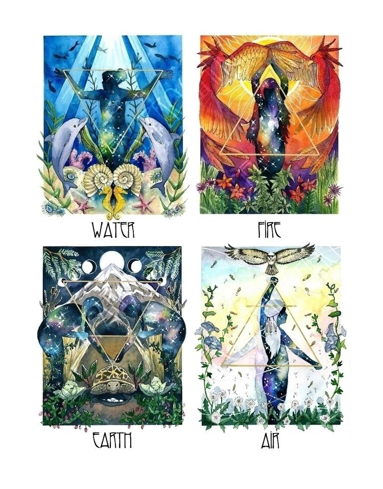 11x14 print 4 Elemental Spirit  - starseedsprouting | ello