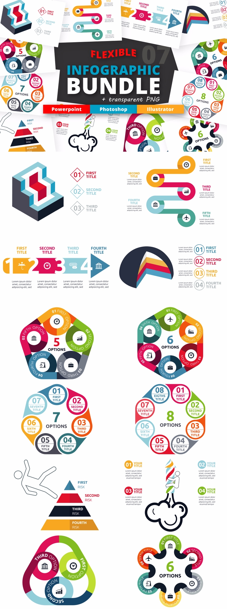Flexible Infographic Bundle (vo - kirp | ello