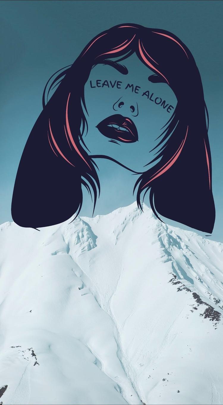 Leave Gh - mountains, black, hairs - picsartphotostudio | ello