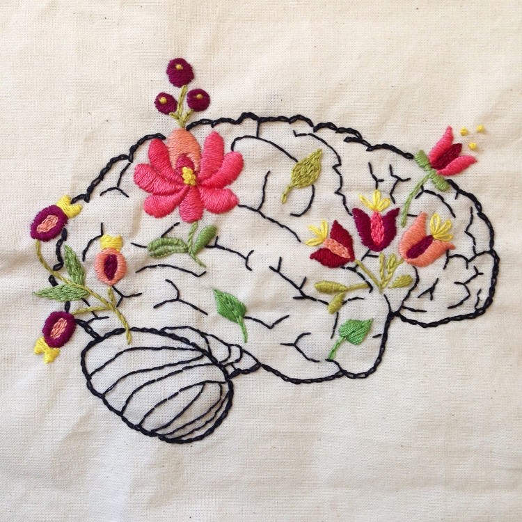 Mindfulness Embroidery Carol Gr - fofysfactory | ello