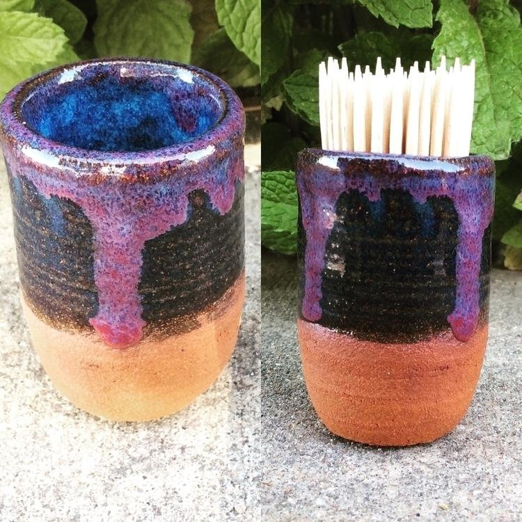 Fresh kiln! warm - newpottery, toothpickholder - brilynnceramics | ello