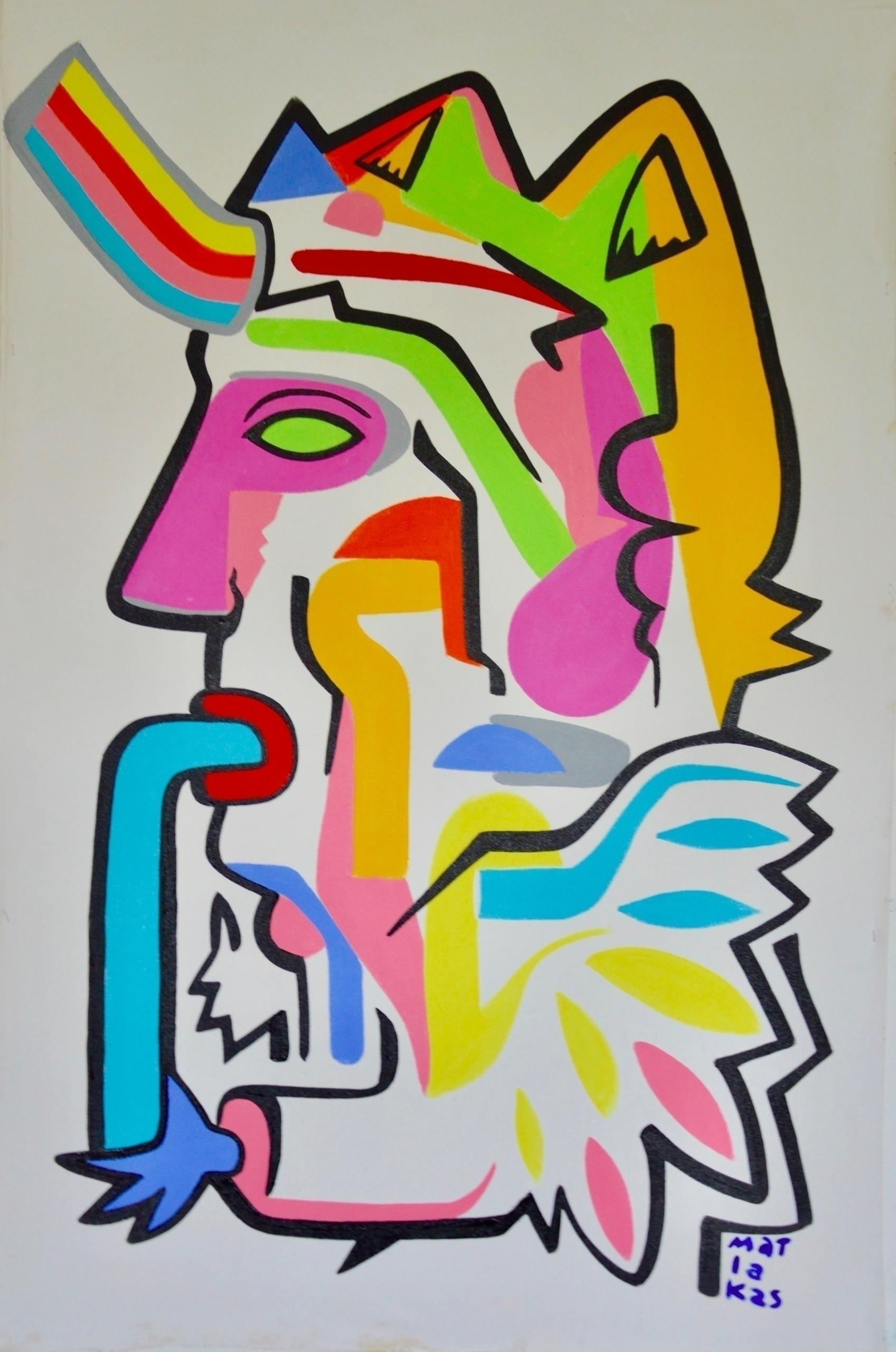 shaman Sings 89x136 oil acrylic - matlakas | ello