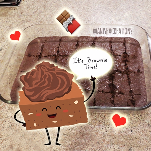 grab piece! brownie time - cute - anishacreations | ello