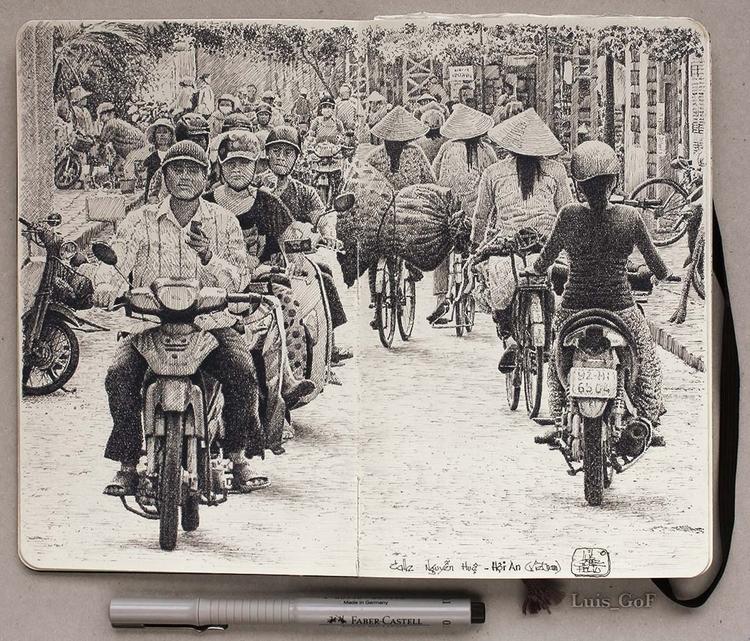 Tráfico en la calle Nguyen Hue - luisgof | ello