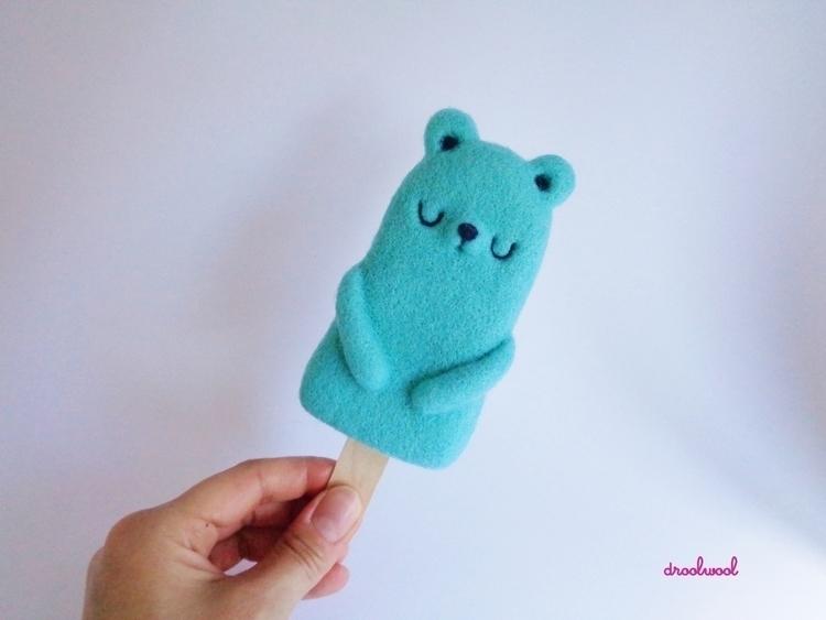 Mint Popsicle Bear, kind, needl - droolwool | ello