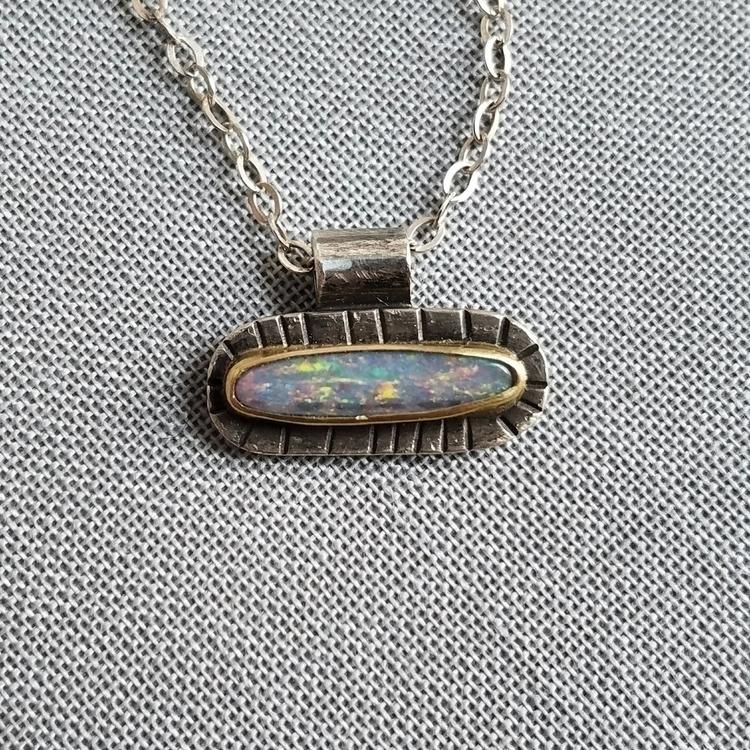 Rainbow-filled boulder opal, su - emmybeanjewelry | ello