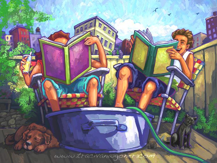 Happy Summertime Reading - tracivw | ello