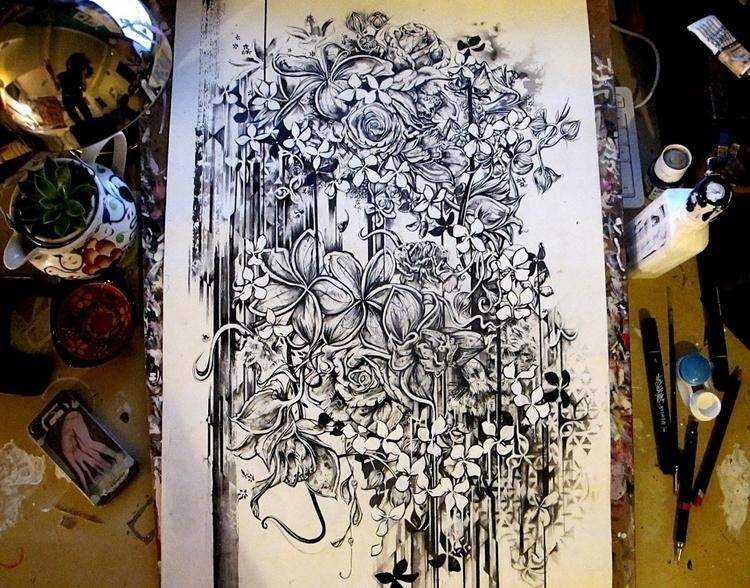 Desk state - flowers, botanicals - femsorcell | ello