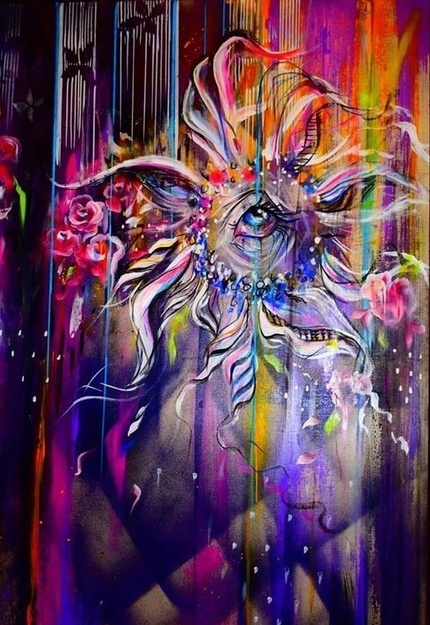 Live Art painting Frog Parrot  - femsorcell | ello