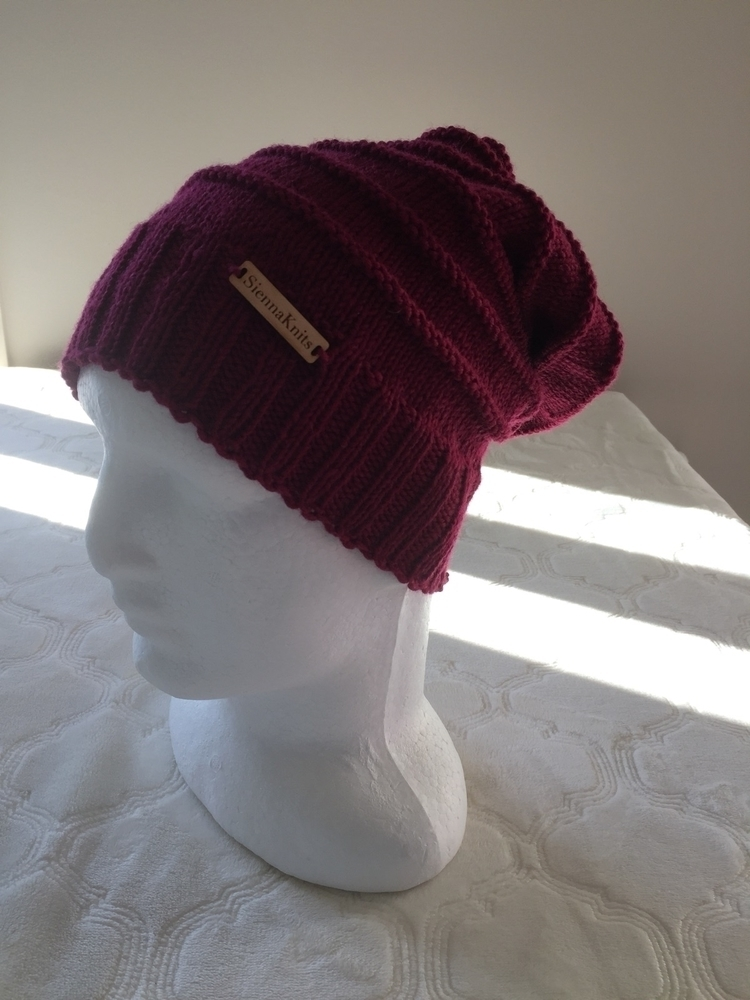 slouchy beautiful burgundy 100  - siennaknits | ello