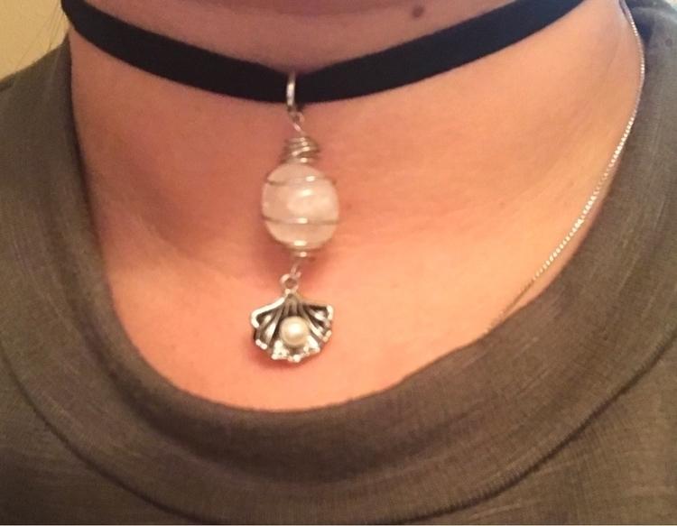 Snow quartz sea shell - seacollectio - balancewithinjewelry | ello