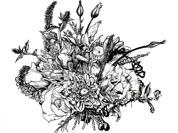 Bloom Instagram - ink, sketch, bloom - inklining | ello