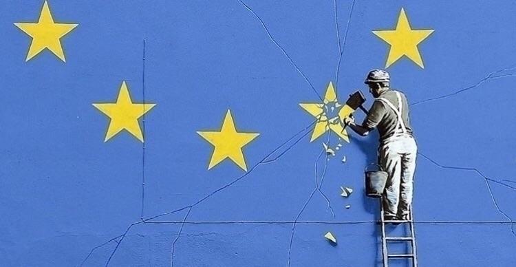 Banksy, Brexit, artoftheday, art - bitfactory | ello