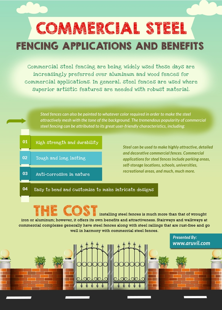 commercial steel fencing - Application - aruvilinternational | ello