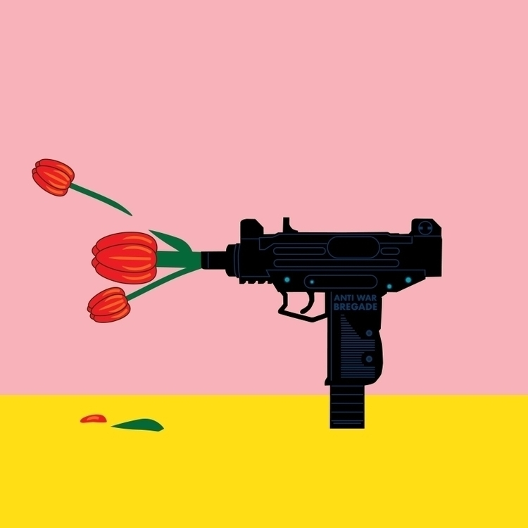 shooting flowers - illustration - funpowder | ello