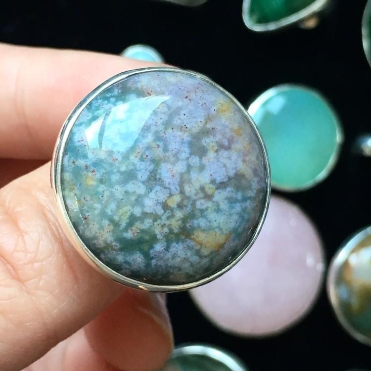 watercolor Moss Agate Ring home - seagypsycollection | ello