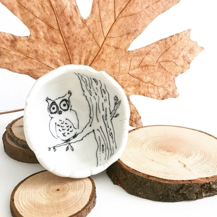 Porcelain pinch pot hand drawn  - highyieldstudio | ello