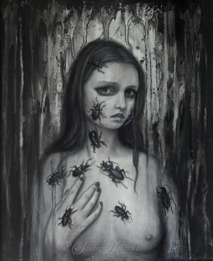 Phobia Oil painting canvas, 41x - sandrahultsved | ello