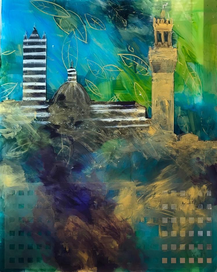 Impressioni di Siena Acrylics p - andreuccettiart | ello