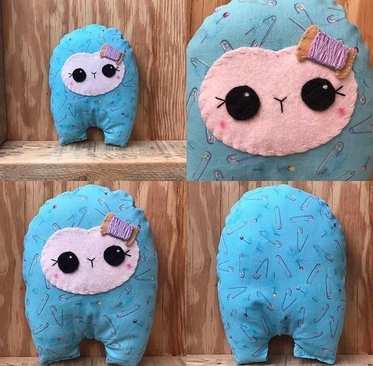 Pin Cushion Huggle  - handmade, plush - tykesanimalkingdom | ello