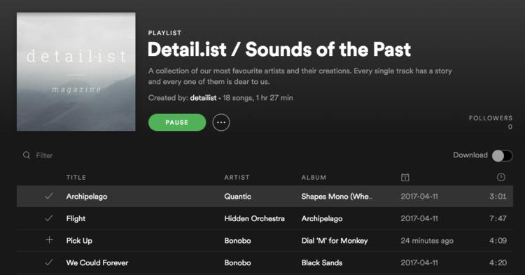 time special. listen. playlist  - detailist | ello