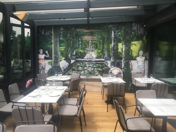 Mural Zurbaran restaurant Athen - dimitrisliossis | ello