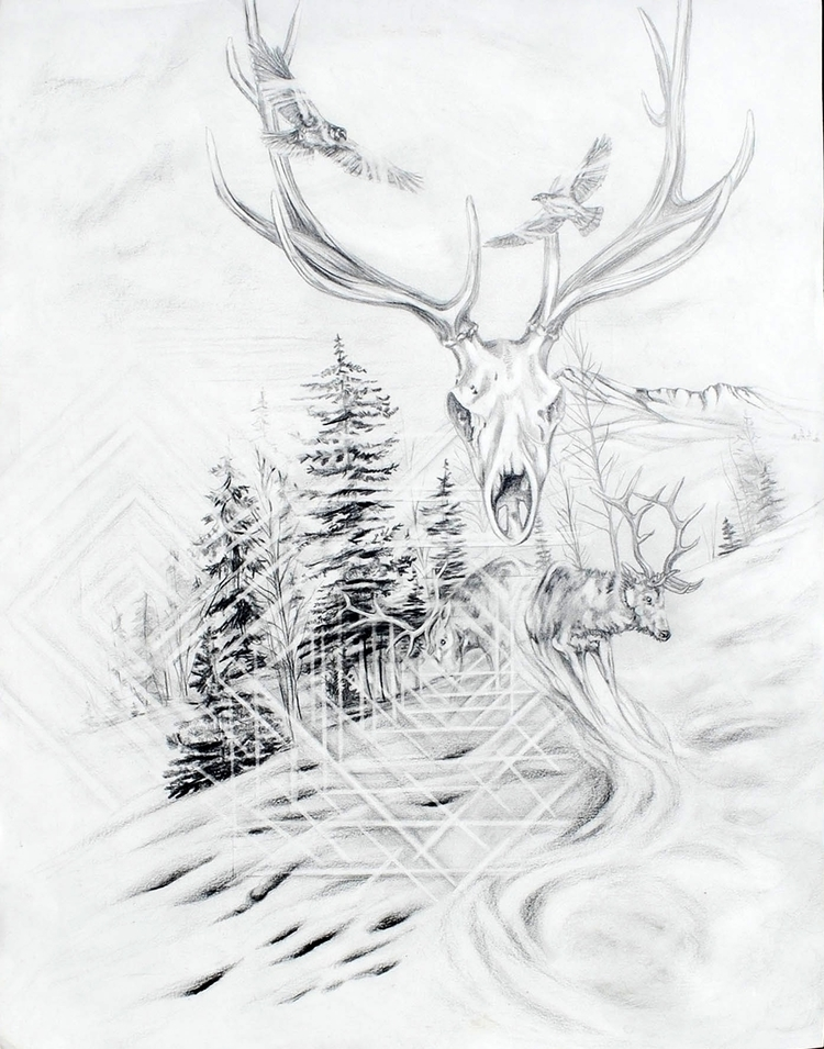 Bird - Drawing,, Elk,, Humming, Raven, - osvinci | ello