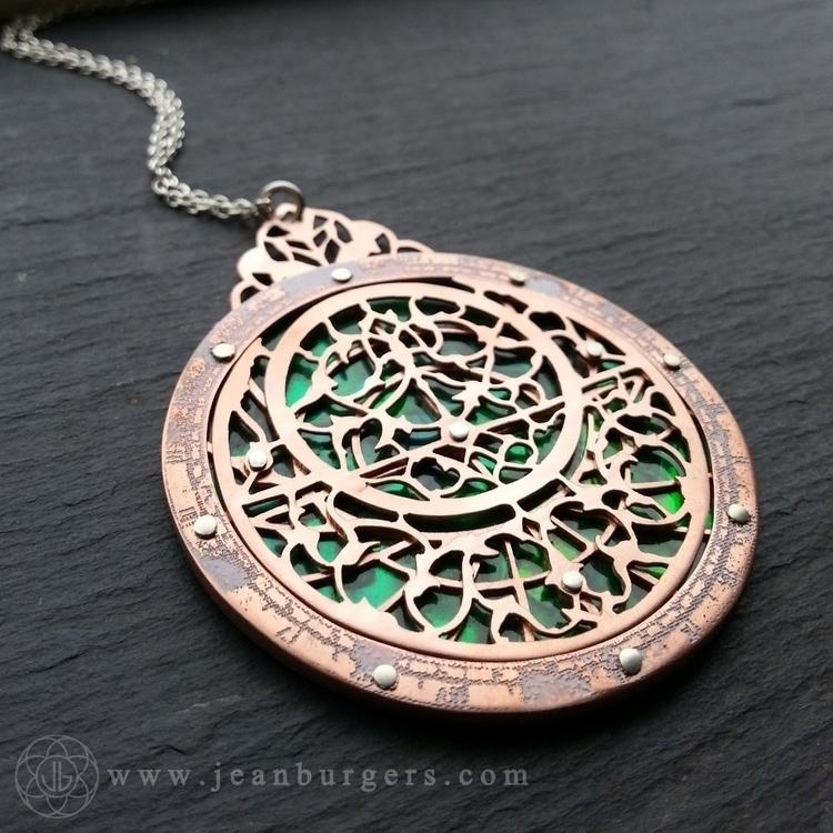 Astrolabe pendant - handcut oxi - jeanburgersjewellery | ello