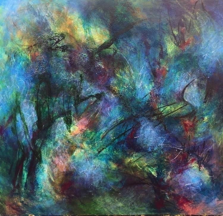 Quartet Acrylic canvas 38x 42 - abstract - geralyninokuchi | ello