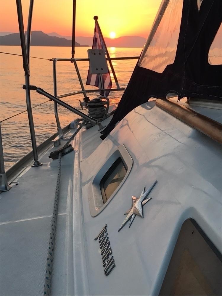 Sunset Sailing Notos - notos-sailing   ello