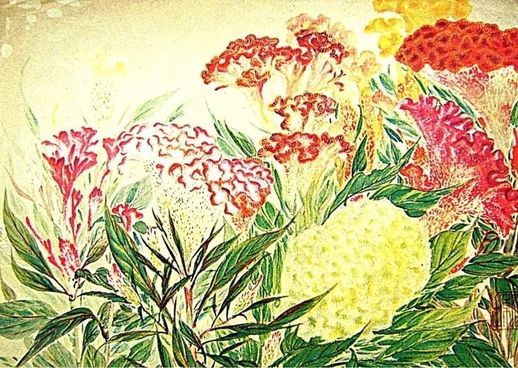 happy find print! print Celosia - futoshijapanese | ello